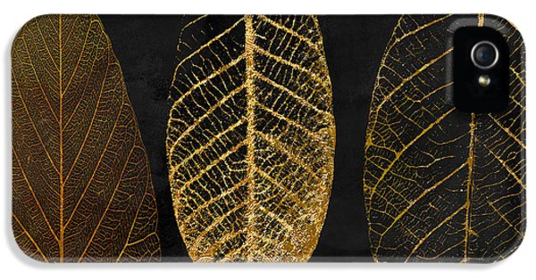 Fallen Gold II Autumn Leaves IPhone 5 Case by Mindy Sommers