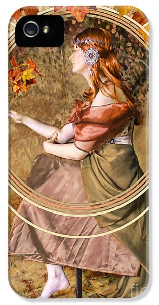 Falling Leaves IPhone 5 Case by John Edwards