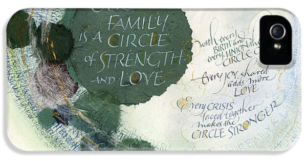Family Circle IPhone 5 Case by Judy Dodds