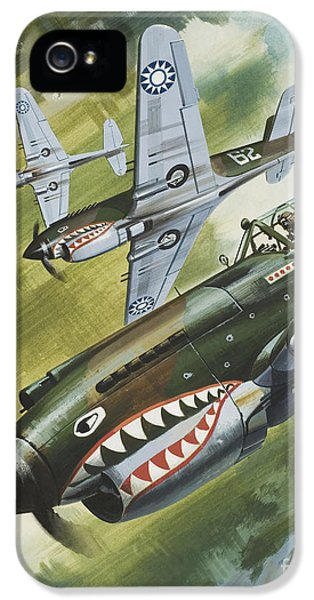 Famous Aircraft And Their Pilots IPhone 5 Case by Wilf Hardy