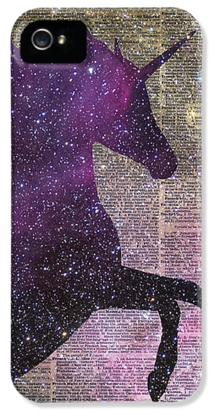 Fantasy Unicorn In The Space IPhone 5 / 5s Case by Jacob Kuch