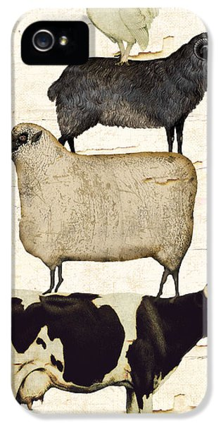 Farm Animals Pileup IPhone 5 / 5s Case by Mindy Sommers