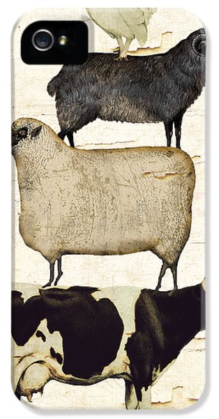 Sheep iPhone 5 Case - Farm Animals Pileup by Mindy Sommers