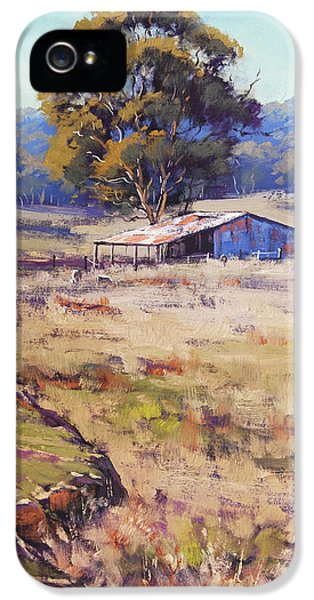 Rural Scenes iPhone 5 Case - Farm Shed Pyramul by Graham Gercken