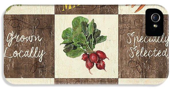 Carrot iPhone 5 Case - Farmer's Market Patch by Debbie DeWitt
