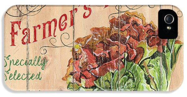 Lettuce iPhone 5 Case - Farmer's Market Sign by Debbie DeWitt