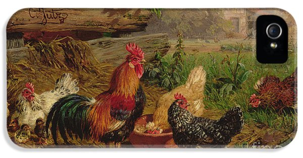 Farmyard Chickens IPhone 5 / 5s Case by Carl Jutz