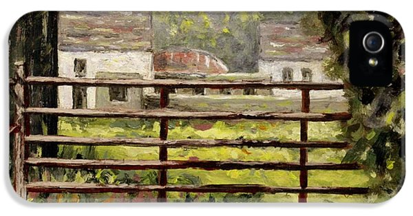 Farmyard Gate IPhone 5 Case by John  Nolan