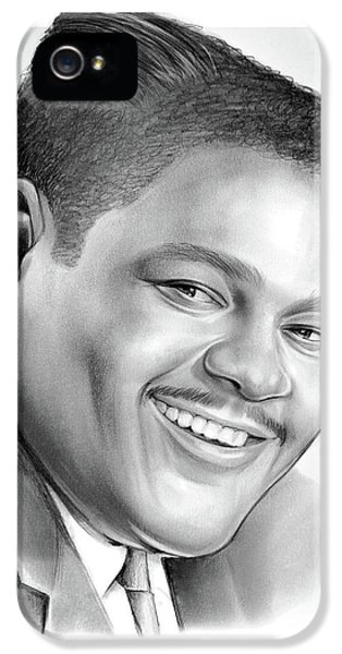 Drum iPhone 5 Case - Fats Domino by Greg Joens
