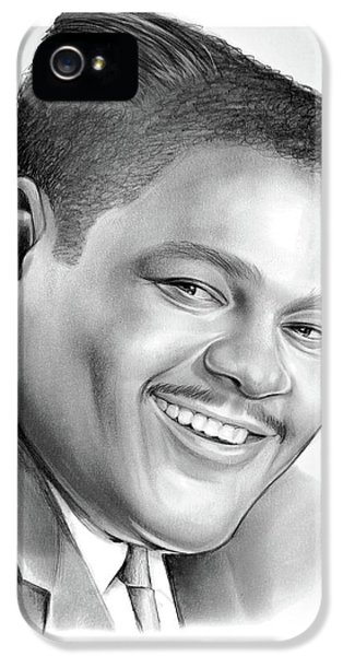 Saxophone iPhone 5 Case - Fats Domino by Greg Joens