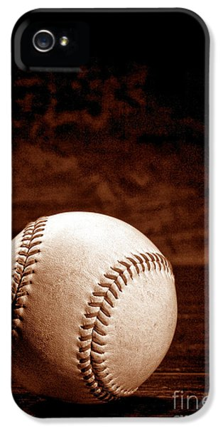 Baseball iPhone 5 Case - Favorite Pastime  by Olivier Le Queinec