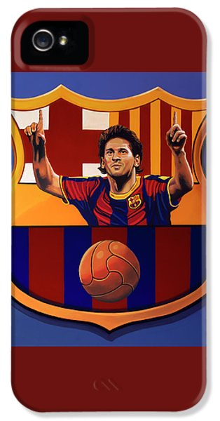 Fc Barcelona Painting IPhone 5 Case by Paul Meijering