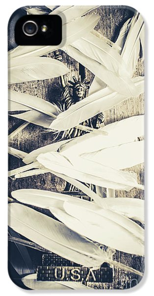 Feathers Of Freedom And The Statue Of Liberty IPhone 5 Case by Jorgo Photography - Wall Art Gallery