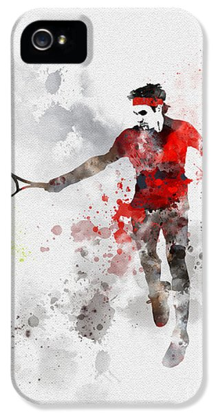 Federer IPhone 5 Case by Rebecca Jenkins