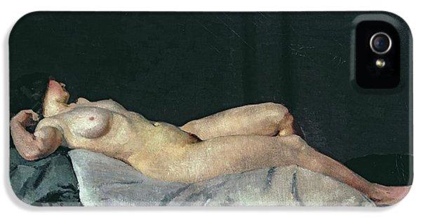 Female Figure Lying On Her Back IPhone 5 Case by Dora Carrington