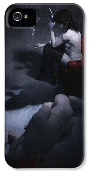Femme Fatale IPhone 5 Case by Guillem H Pongiluppi