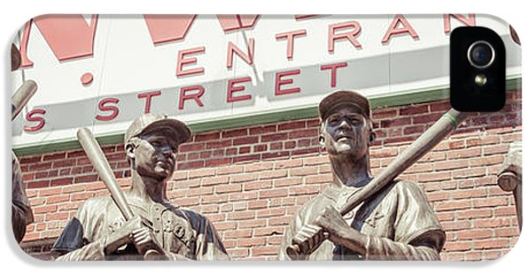 Fenway Park Bronze Statues Panorama Photo IPhone 5 Case