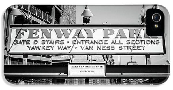 Fenway Park Sign Black And White Photo IPhone 5 Case