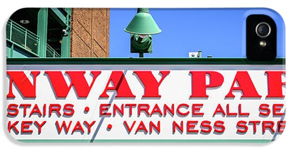Fenway Park Sign Gate D Entrance Panorama Photo IPhone 5 Case