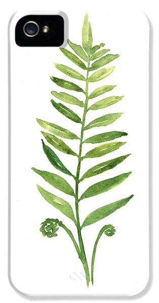 Garden iPhone 5 Case - Fern Leaf Watercolor Painting by Joanna Szmerdt