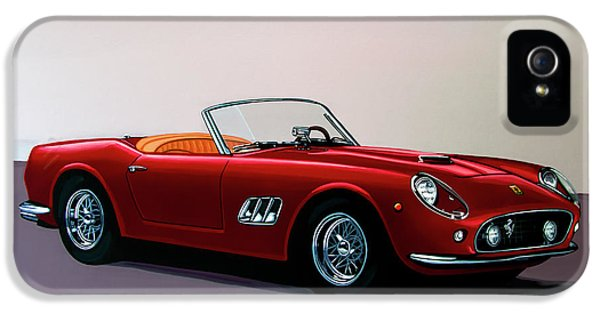 Ferrari 250 Gt California Spyder 1957 Painting IPhone 5 Case