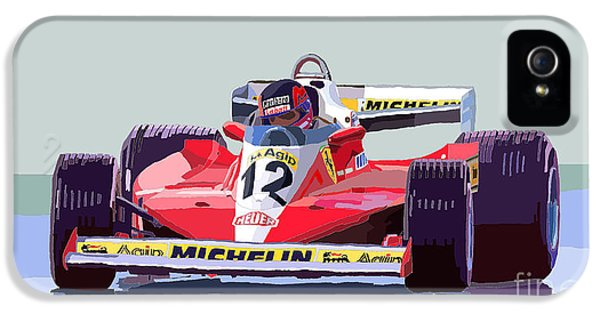 Ferrari 312 T3 1978 Canadian Gp IPhone 5 Case by Yuriy  Shevchuk