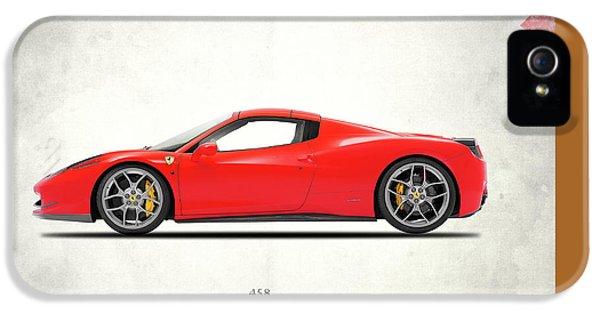 Ferrari 458 Italia IPhone 5 Case by Mark Rogan