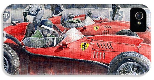 Car iPhone 5 Case - Ferrari Dino 246 F1 1958 Mike Hawthorn French Gp  by Yuriy Shevchuk