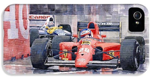 1991 Ferrari F1 Jean Alesi Phoenix Us Gp Arizona 1991 IPhone 5 Case by Yuriy  Shevchuk
