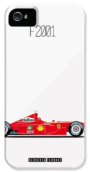 Ferrari F2001 F1 Poster IPhone 5 Case by Beautify My Walls