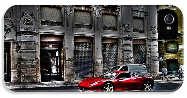 Ferrari In Rome IPhone 5 Case by Effezetaphoto Fz
