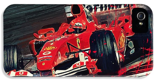 Ferrari - Michael Schumacher  IPhone 5 Case by Afterdarkness