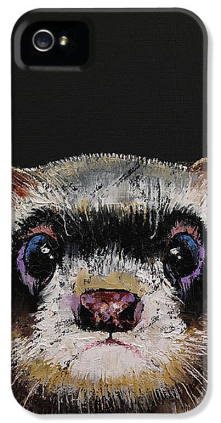 Ferret IPhone 5 Case by Michael Creese