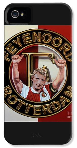 Feyenoord Rotterdam Painting IPhone 5 Case by Paul Meijering