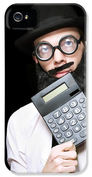 Financial And Accounting Genius With Calculator IPhone 5 Case by Jorgo Photography - Wall Art Gallery