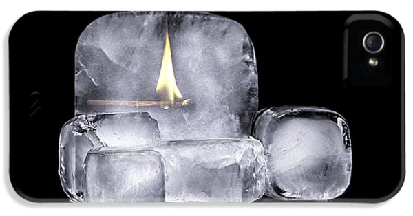 Fire And Ice IPhone 5 Case by Tom Mc Nemar