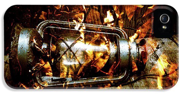 Fire In The Hen House IPhone 5 Case by Jorgo Photography - Wall Art Gallery