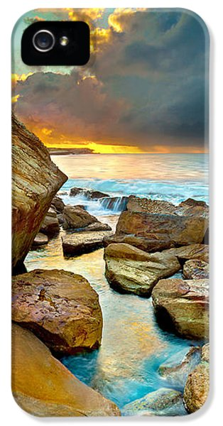 Pacific Ocean iPhone 5 Case - Fire In The Sky by Az Jackson