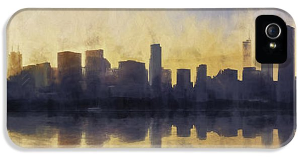 Fire In The Sky Chicago At Sunset IPhone 5 Case by Scott Norris