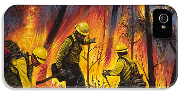 Fire Line 2 IPhone 5 Case by Ricardo Chavez-Mendez
