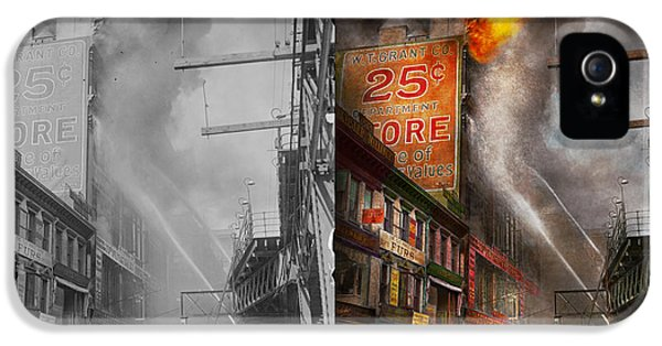 Fireman - New York Ny - Show Me A Sign 1916 - Side By Side IPhone 5 Case