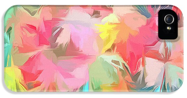Fireworks Floral Abstract Square IPhone 5 Case by Edward Fielding