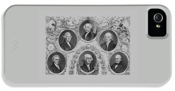 Thomas Jefferson iPhone 5 Case - First Six U.s. Presidents by War Is Hell Store