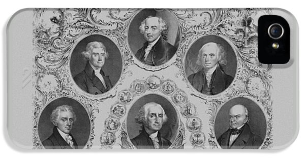 First Six U.s. Presidents IPhone 5 Case by War Is Hell Store