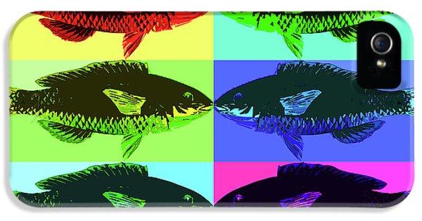 IPhone 5 Case featuring the digital art Fish Dinner Pop Art by Nancy Merkle