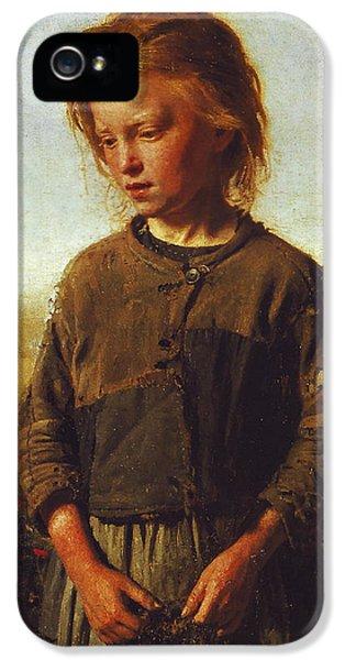 Fisher Girl IPhone 5 Case by Ilya Efimovich Repin