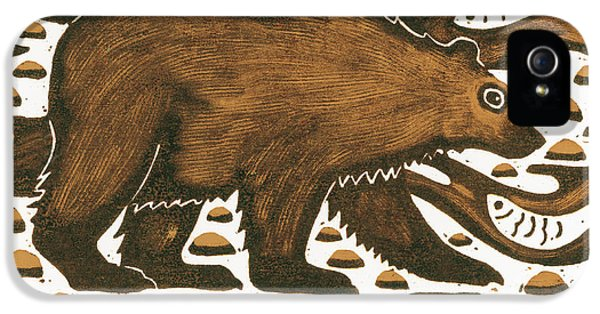 Fishing Bear IPhone 5 Case by Nat Morley