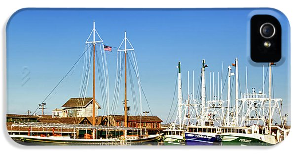 Fishing Boats In Cape May Harbor IPhone 5 Case by Carolyn Derstine