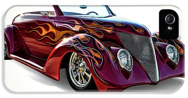 Flamin' Red Roadster IPhone 5 Case by Douglas Pittman