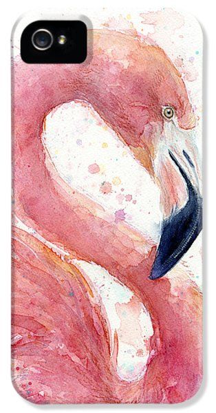 Flamingo - Facing Right IPhone 5 / 5s Case by Olga Shvartsur